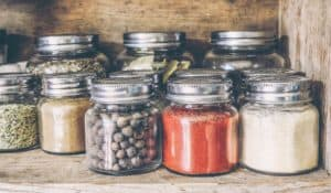 Modern Styled Stainless-Steel Spice Jars